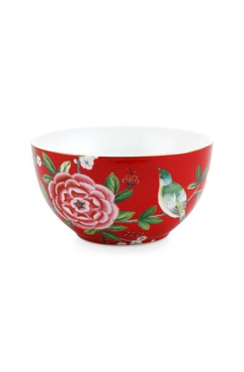 Blushing Birds Bowl Red 15 cm
