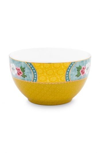Blushing Birds Star Flower Bowl Yellow 9.5 cm
