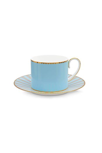 Love Birds Cup & Saucer Blue