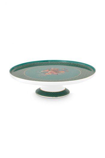 Torte-platte-mini-grün-goldene-details-winter-wonderland-pip-studio-21-cm