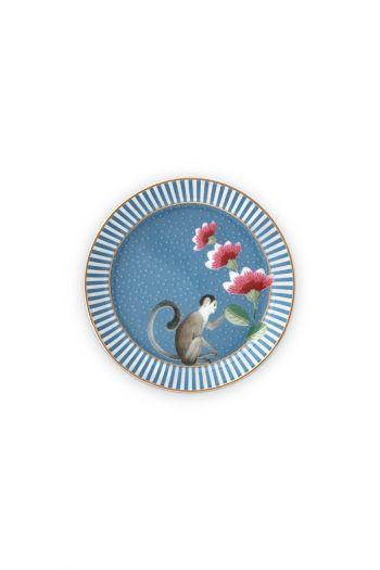 teebeutelablage-la-majorelle-aus-porzellan-mit-ein-affe-in-blau