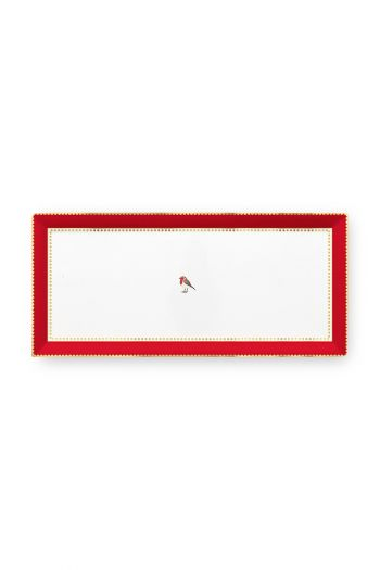 Love Birds Cake Tray Rectangular Red