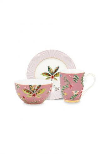 La Majorelle Breakfast set of 3 Pink