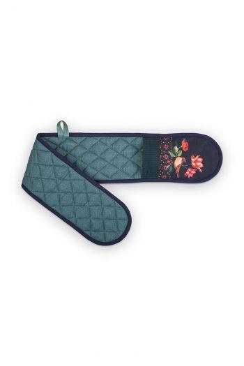 Double-oven-mitten-green-winter-wonderland-pip-studio-94x14,5-cm
