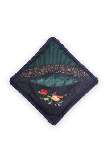 Pannenlap-vierkant-groen-winter-wonderland-pip-studio-22x22-cm