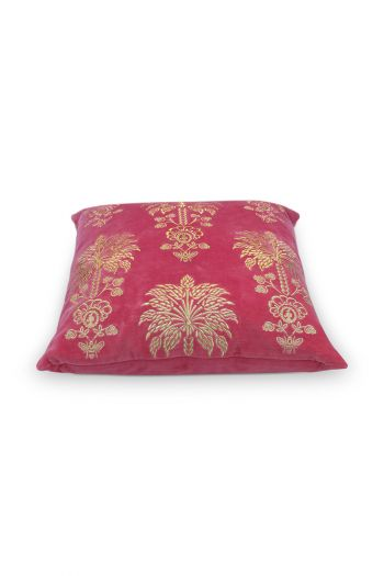 cushion-dark-pink-flowers-square-cushion-decorative-palmtree-pip-studio-45x45-cotton