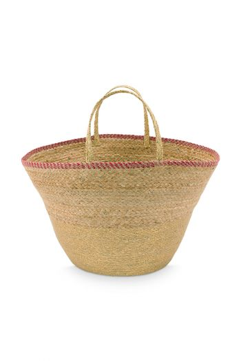 Basket with Handles Seagrass Gold 30/47x32cm