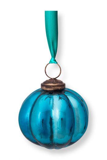 Kerst-ornament-glas-rond-strepen-blauw-pip-studio-7,5-cm