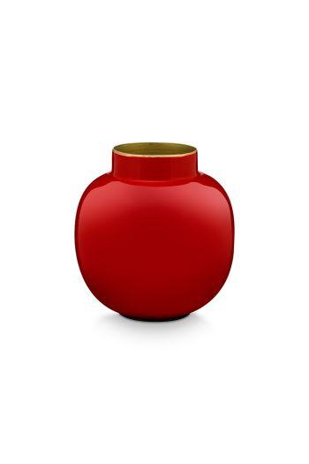 Mini-vase-red-round-metal-home-accesoires-pip-studio-10-cm