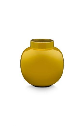 Mini-vase-yellow-round-metal-home-accesoires-pip-studio-10-cm