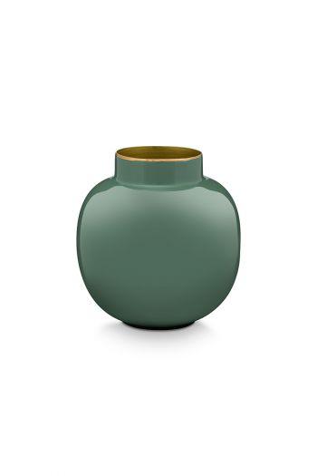 Mini-vase-grün-runden-metall- Wohnaccessoires-pip-studio-10-cm