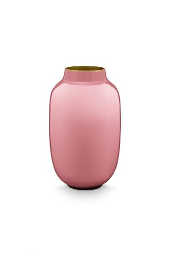 Mini-vaas-oud-roze-ovaal-metaal-woon-accesoires-pip-studio-14-cm