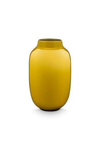 Mini-vase-yellow-oval-metal-home-accesoires-pip-studio-14-cm
