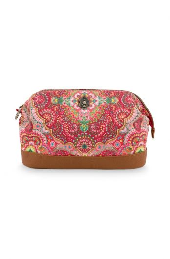 Make-up-tas-large-rood-bloemen-moon-delight-pip-studio-22,5x9,5x15