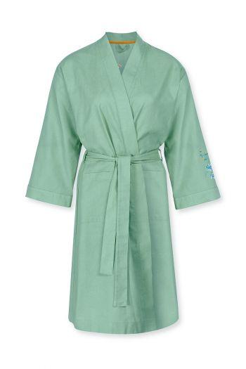 Kimono-3/4-sleeve-botanical-print-green-flirting-birds-embroidery-pip-studio-xs-s-m-l-xl-xxl
