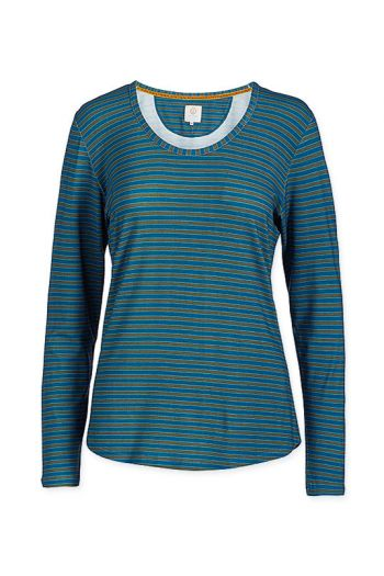 top-lange-mouw-fushion-stripe-blauw