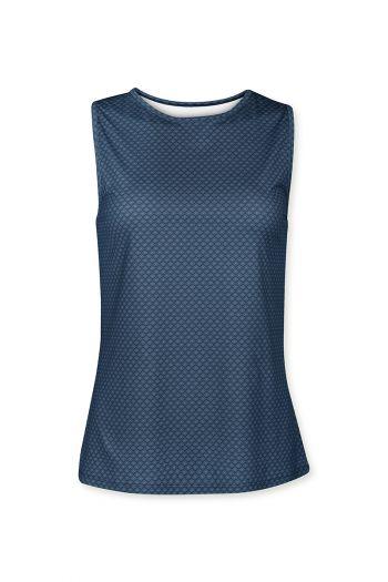 Sport-top-sleeveless-blue-lace-flower-pip-studio-xs-s-m-l-xl-xxl