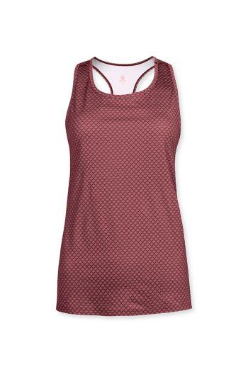 Sport-top-sleeveless-red-lace-flower-pip-studio-xs-s-m-l-xl-xxl