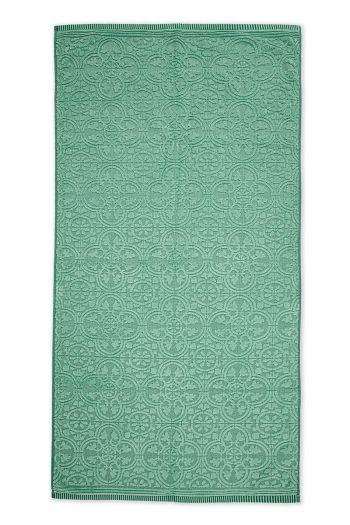 Handtuch-XL-barock-drucken-grün-70x140-tile-de-pip-baumwolle