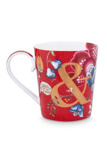 Letter-mug-red-blushing-birds-&-pip-studio