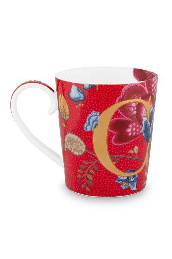 Letter-mug-red-blushing-birds-C-pip-studio