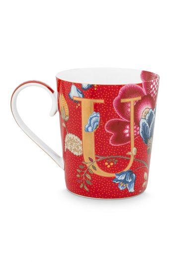 Letter-mug-red-blushing-birds-U-pip-studio