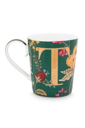 Letter-mug-green-floral-fantasy-T-pip-studio