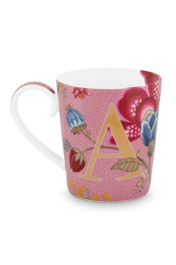 Letter-mokken-roze-floral-fantasy-A-pip-studio