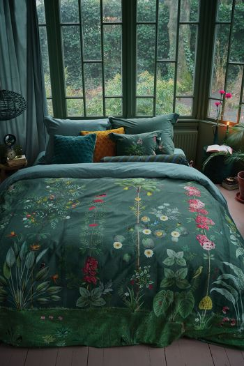 duvet-cover-green-flowers-babylons-garden-2-persons-pip-studio-240x220-140x200-cotton