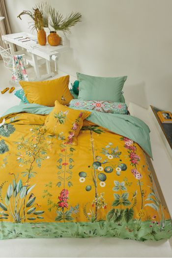 Duvet-cover-flower-yellow-babylons-garden-pip-studio-2-persons-240x220-140x200-cotton