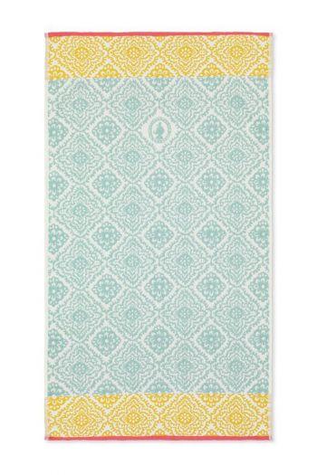 Douchelaken-handdoek-light-blue-55x100-jacquard-check-pip-studio-katoen-terry-velour