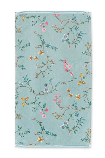 Bath-towel-floral-blue-55x100-les-fleurs-pip-studio-cotton-terry-velour