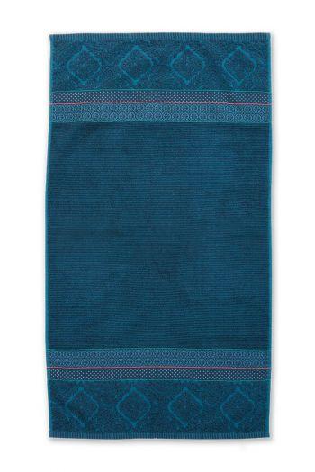 Douchelaken-handdoek-donker-blauw-55x100-soft-zellige-pip-studio-katoen-terry-velour