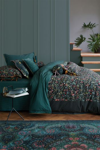 Duvet-cover-flower-green-midnight-garden-pip-studio-2-persons-240x220-140x200-cotton