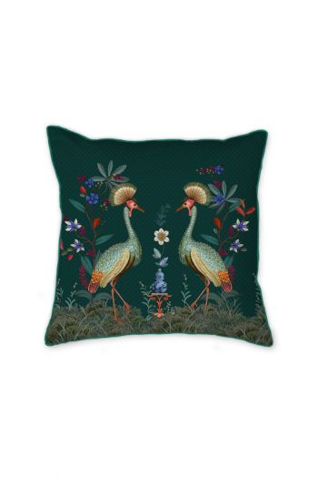 vierkant-sierkussen-birds-in-a-row-groen-bloemen-pip-studio-225493