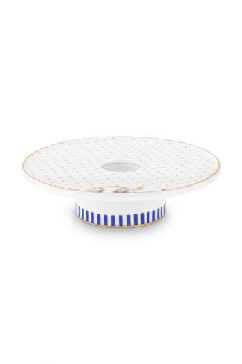 porcelain-candle-tray-white-royal-stripes-collection-pip-studio-14-cm