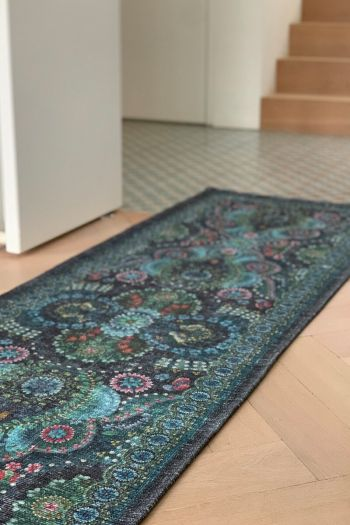 Carpet-runner-dark-blue-vintage-look-moon-delight-pip-studio-cotton-280x80