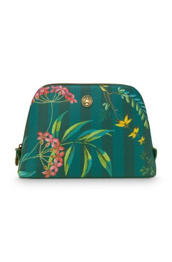 cosmetic-bag-triangle-medium-fleur-grandeur-grün-24/17x16.5x8-cm-artificial-leather-1/24-pip-studio-51.274.131