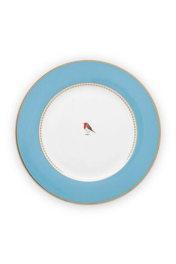 dinner-plate-love-birds-in-blauw-with-bird-26,5-cm