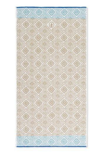 Bath-towel-xl-khaki-bohemian-70x140-jacquard-check-pip-studio-cotton-terry-velour
