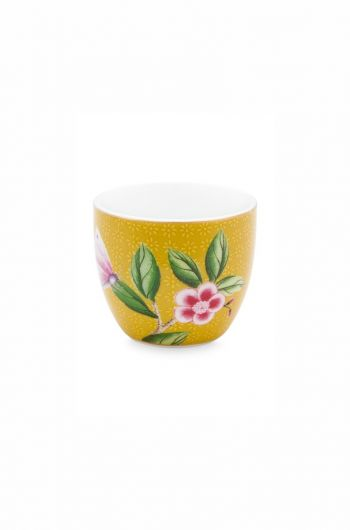 Blushing Birds Egg Cup Yellow