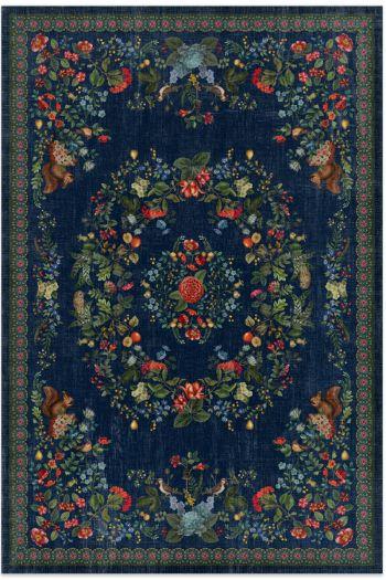 vloerkleed-botanische-print-donkerblauw-fall-in-leaf-pip-studio-155x230-185x275-200x300