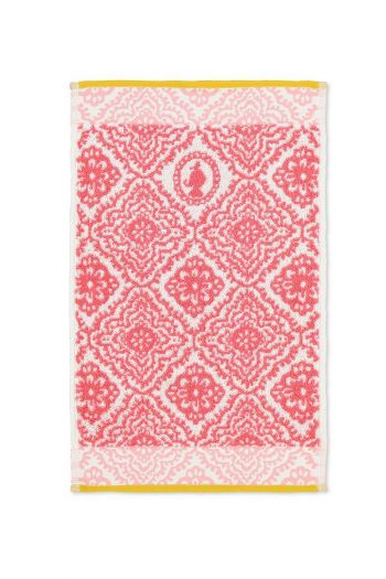 Guest-towel-dark-pink-30x50-jacquard-check-pip-studio-cotton-terry-velour