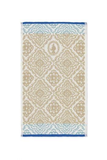 Guest-towel-khaki-30x50-jacquard-check-pip-studio-cotton-terry-velour