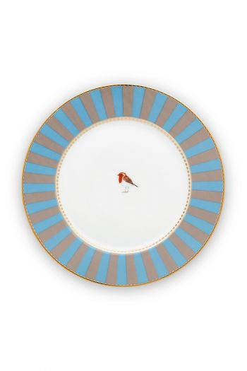 pastry-plate-love-birds-in-blua-and-khaki-with-bird-17-cm