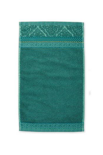 Gastendoek-groen-bloemen-30x50-soft-zellige-pip-studio-katoen-terry-velour