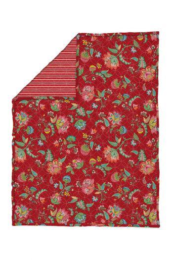 Quilt-Plaids-rood-quilts-dekentje-130x170-throw-jambo-flower-pip-studio-gebreid