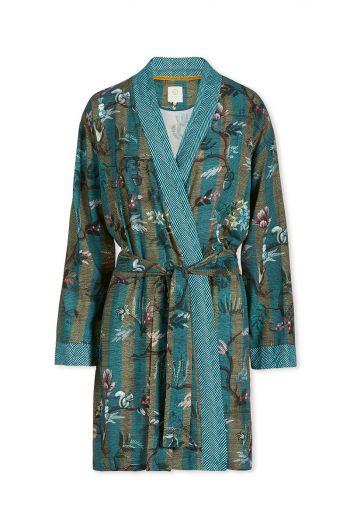 Kimono Woodland Nights Stripe Blue
