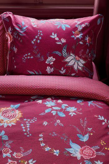 pillowcase-flower-festival-dark-red-flowers-pip-studio-60x70-40x80-cotton