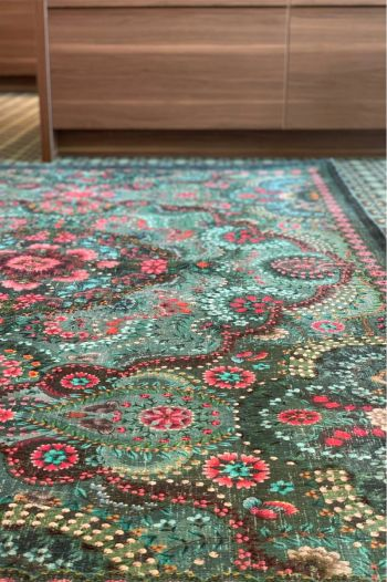Carpet-bohemian-green-floral-moon-delight-pip-studio-155x230-200x300